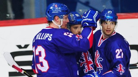 GB celebrate v Estonia