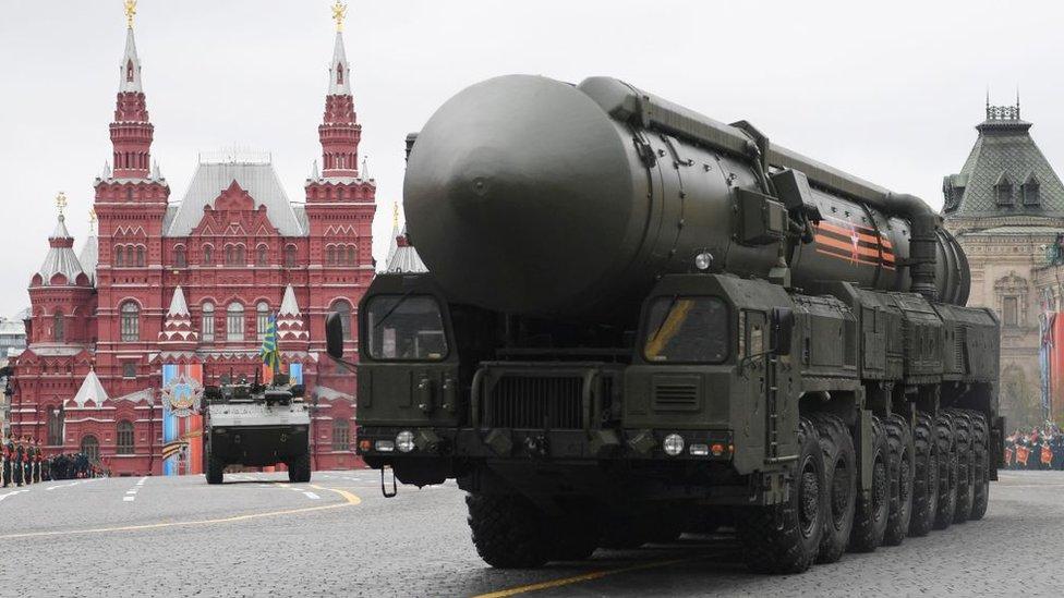 Un sistema Yars RS-24, en la Plaza Roja de Moscú.