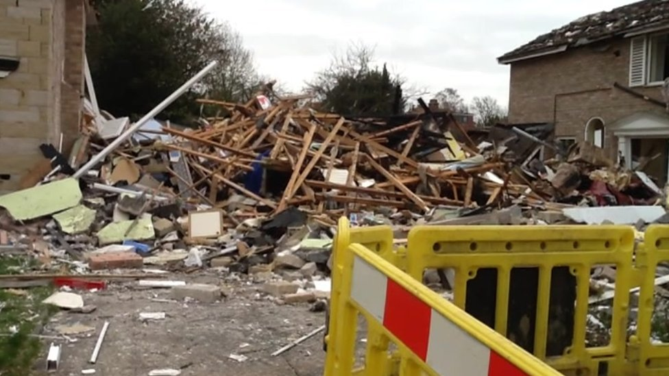 Gas explosion Haxby