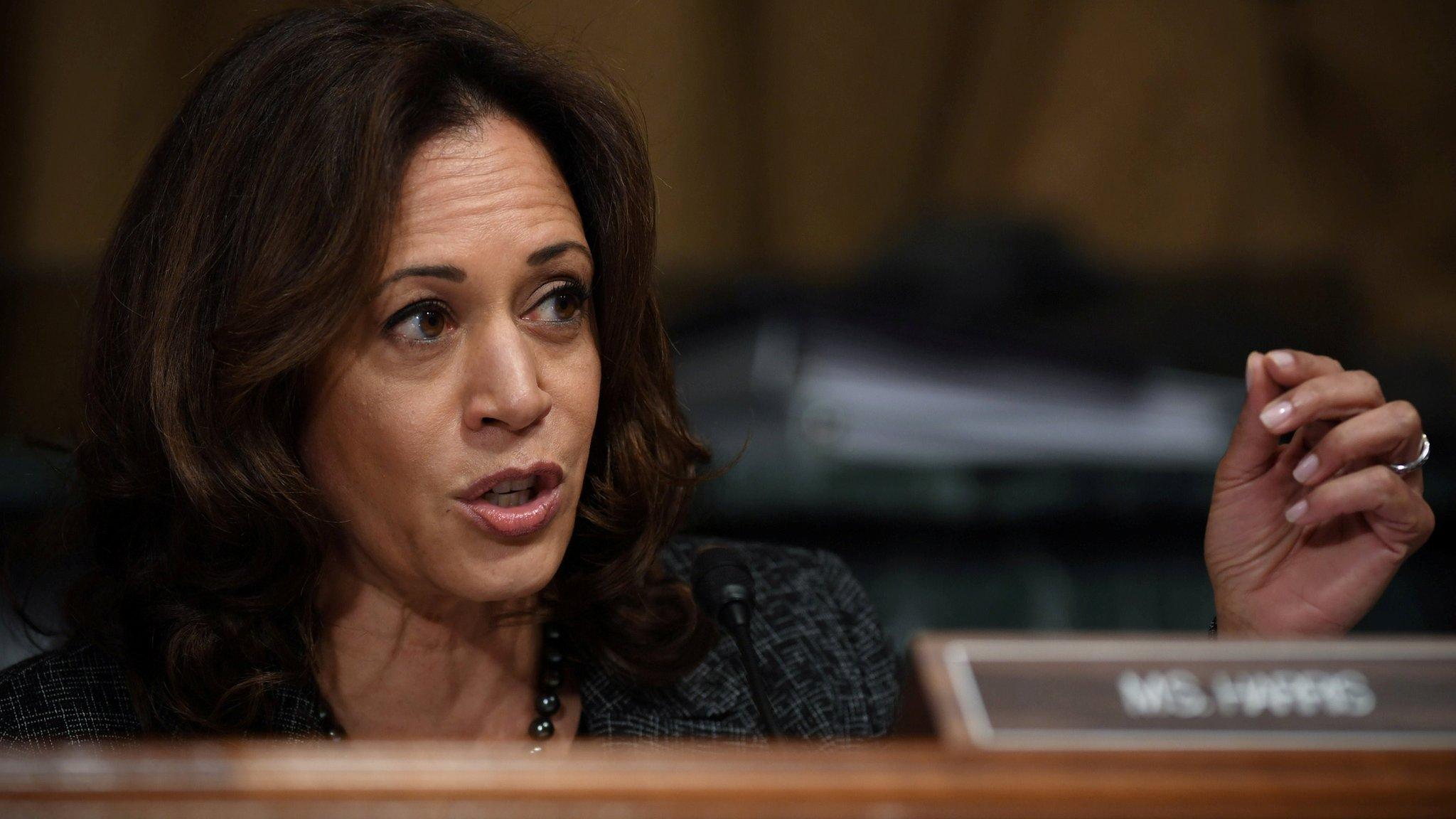 Democrat Kamala Harris announces presidential run
