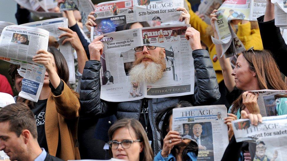 Fairfax journalists in Australia walk out over job cuts