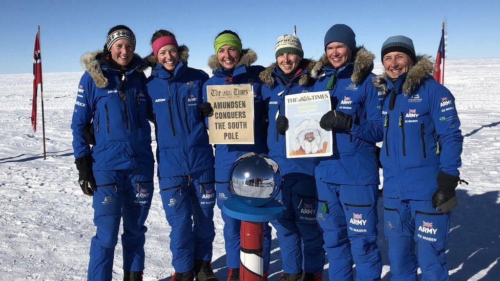 'Ice Maiden' team celebrates ski record