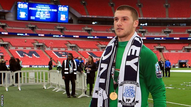 Sam Johnstone was North End's keeper when they won promotion at Wembley in May