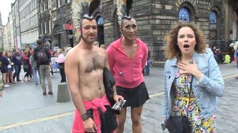 Frankie on the Royal Mile