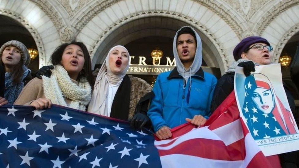 احتجاجات ضد قرار ترامب بشأن السفر