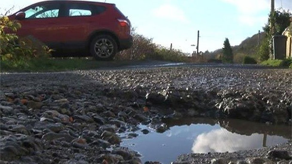 Potholes and car