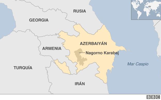 Nagorno Karabaj en el mapa