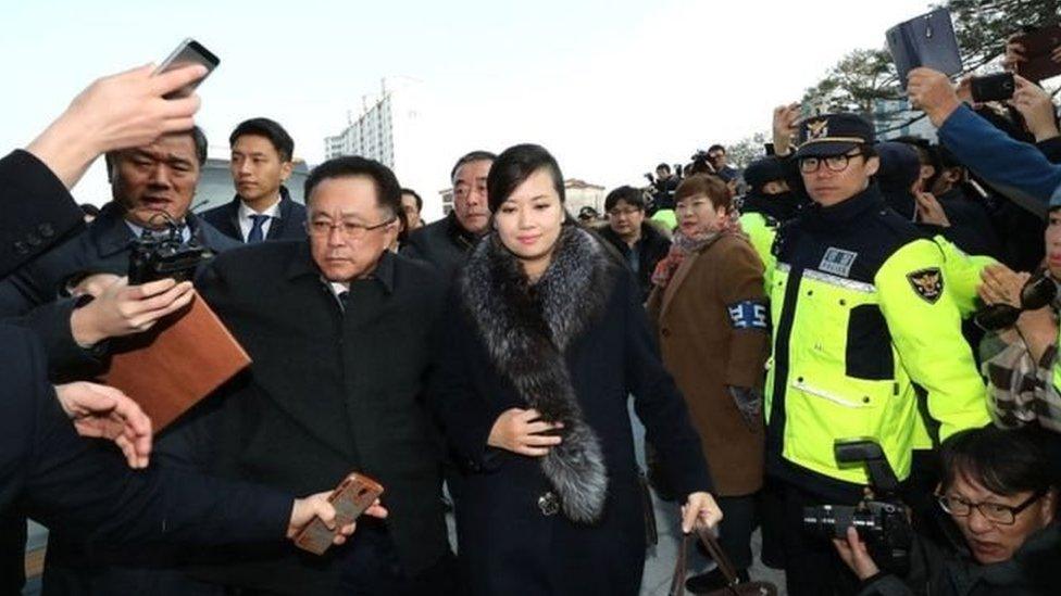 Trưởng nhóm nhạc Bắc Hàn dẫn đầu đoàn Bắc Hàn kiểm tra Olympic