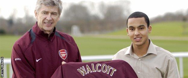 Arsene Wenger & Theo Walcott