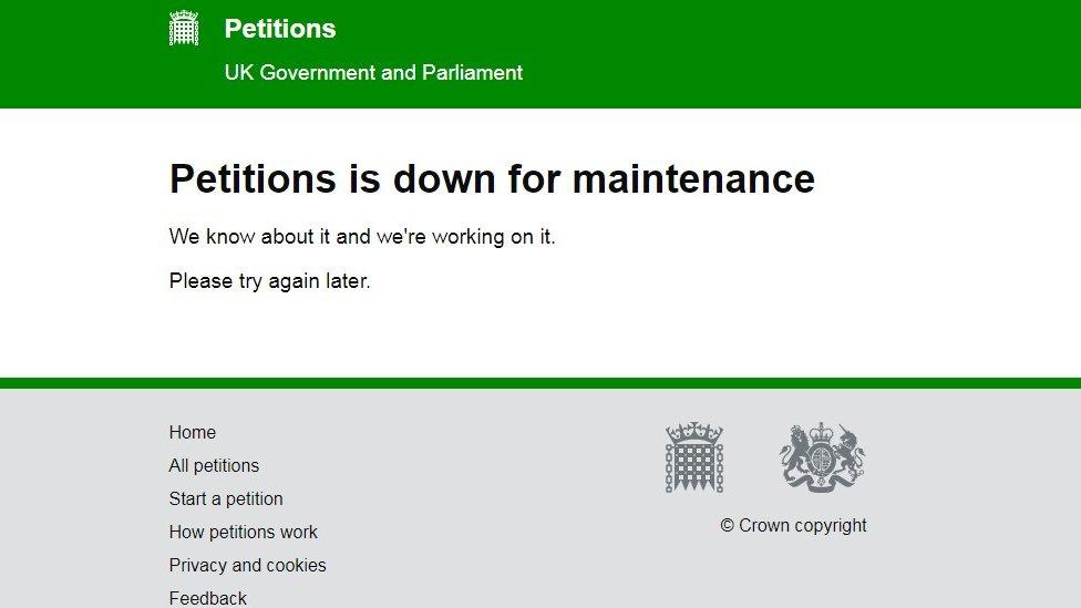 Brexit: Revoke Article 50 petition crashes Parliament website