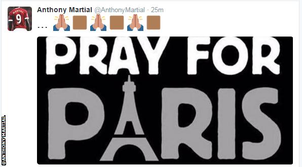 Anthony Martial tweet