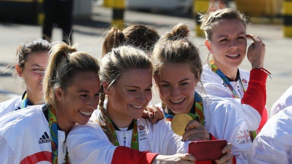 Record-breaking Team GB return from Rio