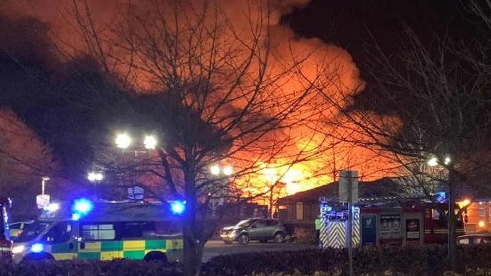 Tamworth hospital: Suspect, 43, held over George Bryan Centre fire