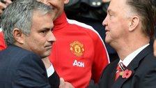 Jose Mourinho (left) and Louis van Gaal