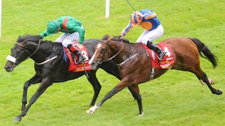 Harzand: Derby double as Epsom winner triumphs at the Curragh