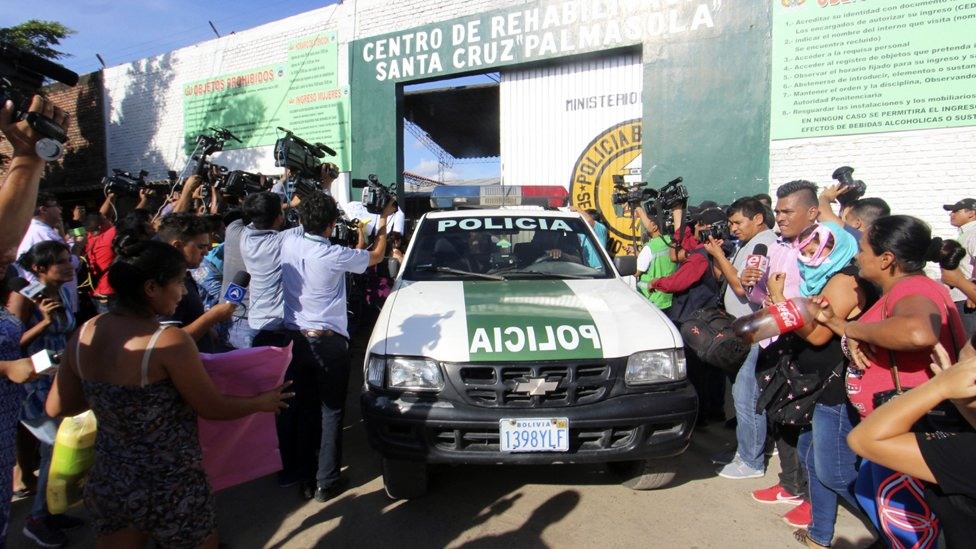 Familiares de reclusos en Palmasola