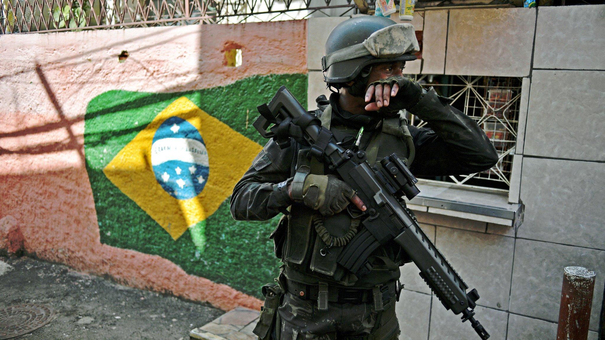 Rio de Janeiro violence: Brazil army to take control of security