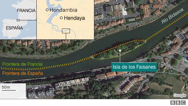 mapa Isla Faisanes
