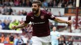 Hearts striker Juanma Delgado