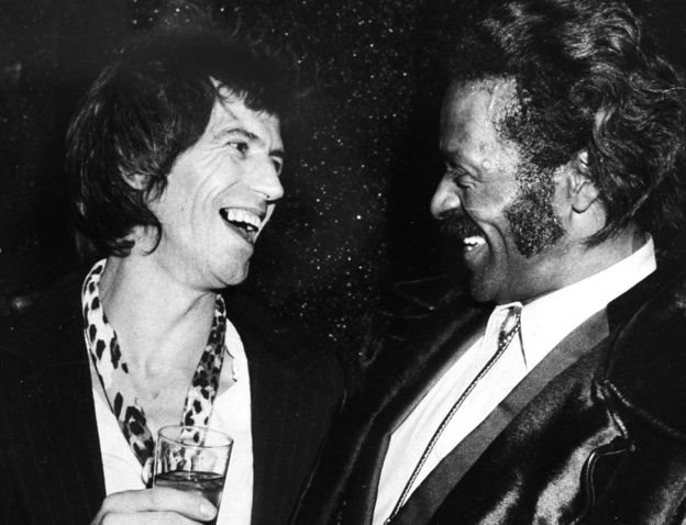 Keith Richards y Chuck Berry.