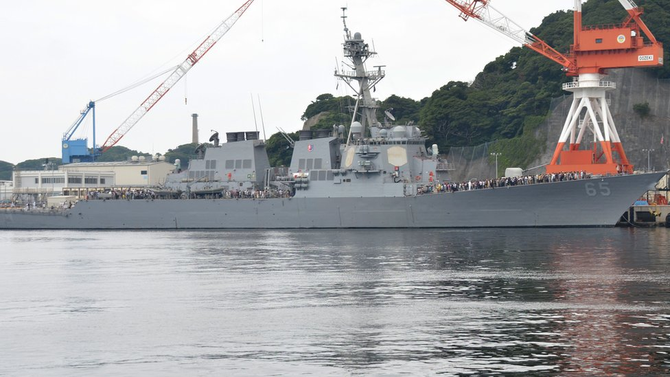 US warship and Japanese tug collide in latest incident