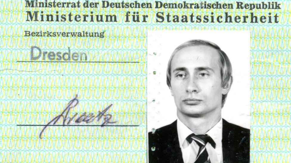 Putin's Stasi spy ID pass found in Germany