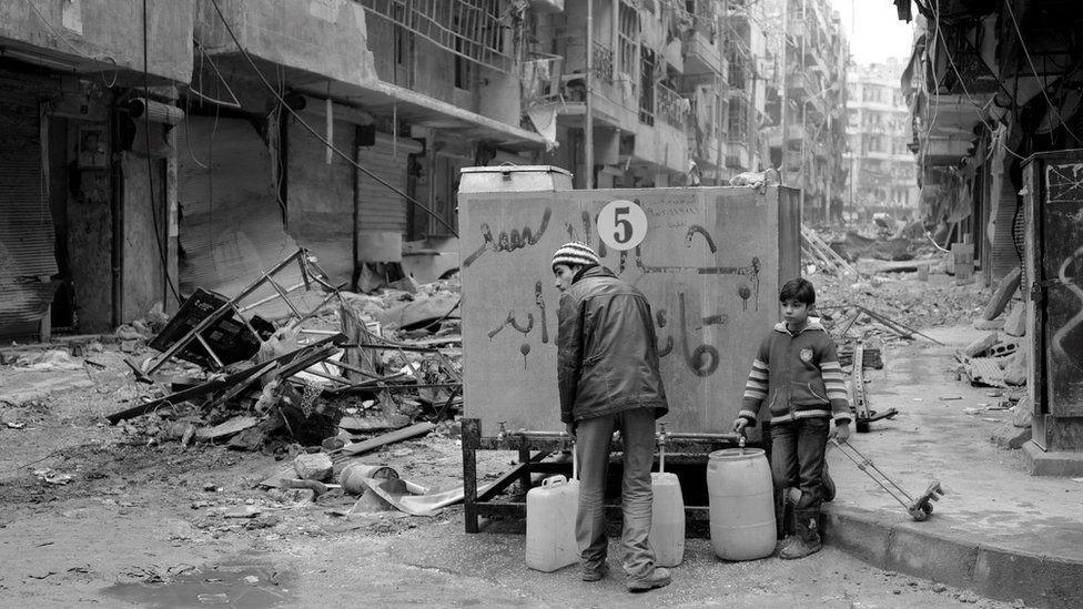 یو ښار و چې حلب یې باله