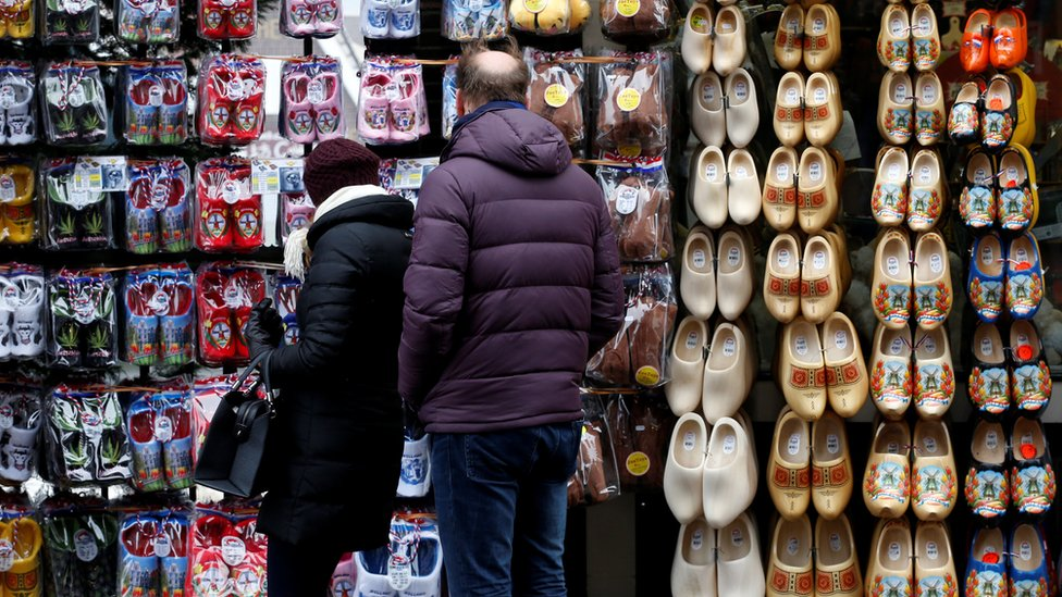 Tienda turística en Ámsterdam, Holanda
