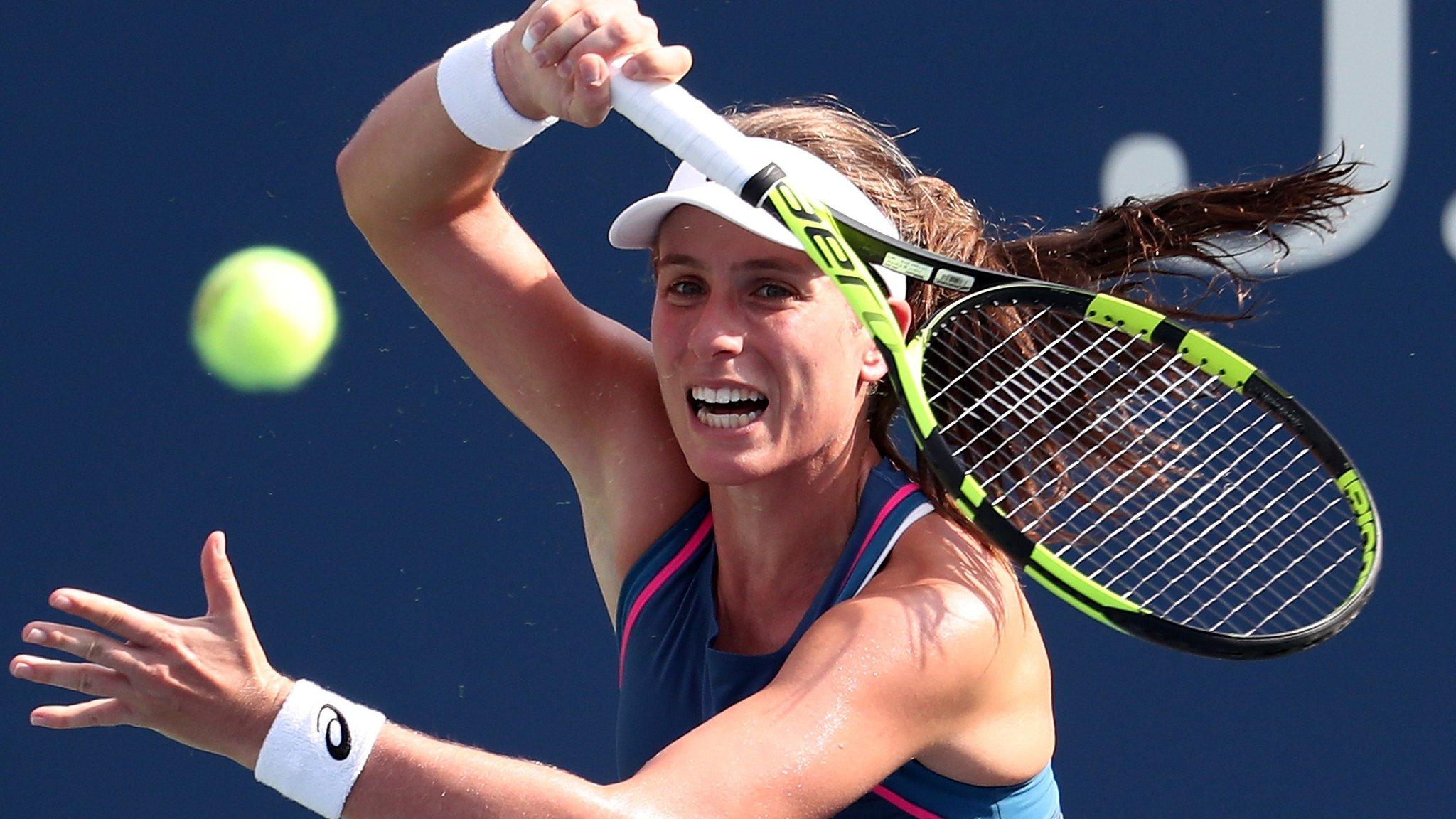 Pan Pacific Open: Johanna Konta beats Gabriela Dabrowski to reach round of 16