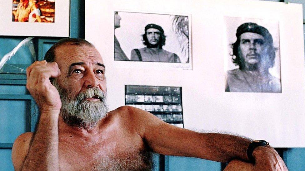 Alberto Korda y su famosa foto del Che.