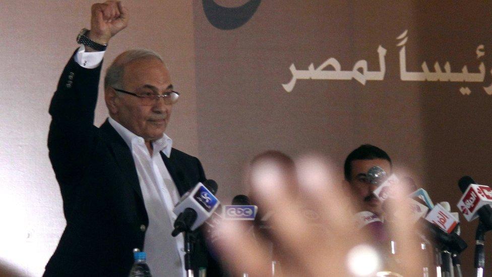 أحمد شفيق خلال حملته الانتخابيةعام 2012