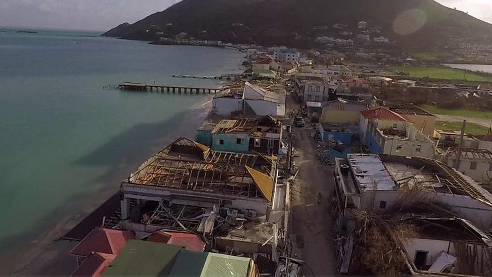 Hurricane Irma: Drone footage shows Saint-Martin devastation
