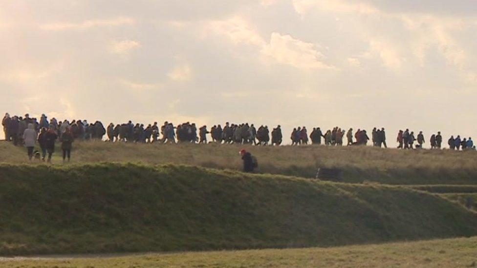 Hill top protest calls for halt to Eastbourne council plans