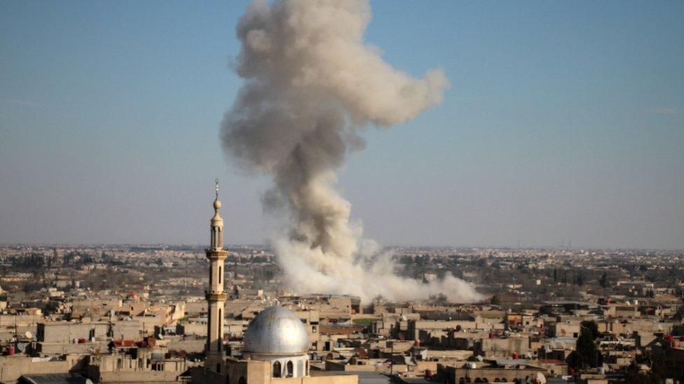 القصف في الغوطة الشرقية
