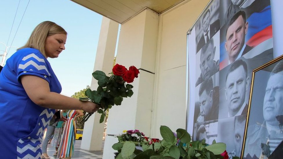 Ukraine crisis: Mass turnout for funeral of Donetsk rebel Zakharchenko
