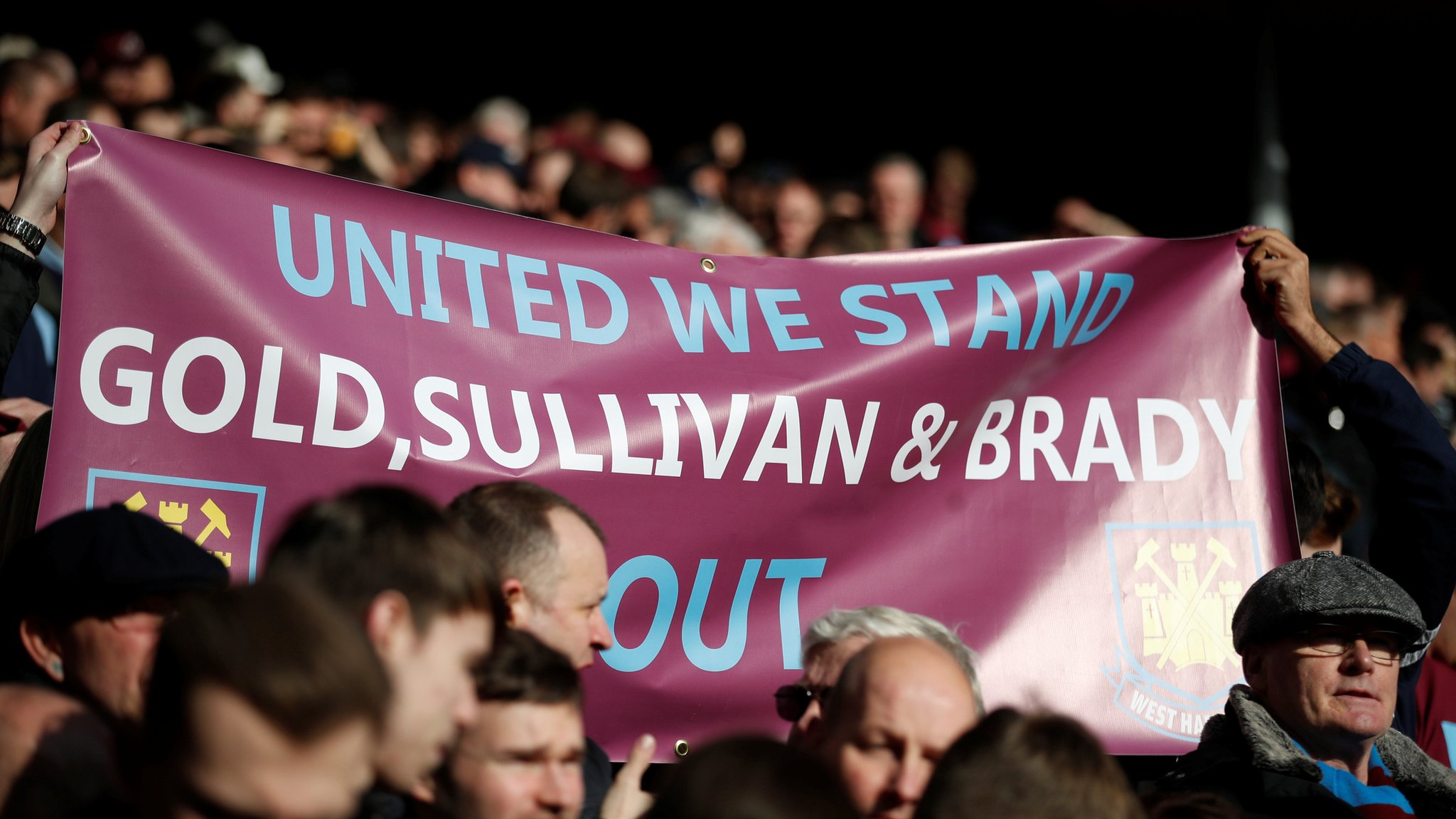 West Ham's Sullivan 'hit by coin' amid fan trouble