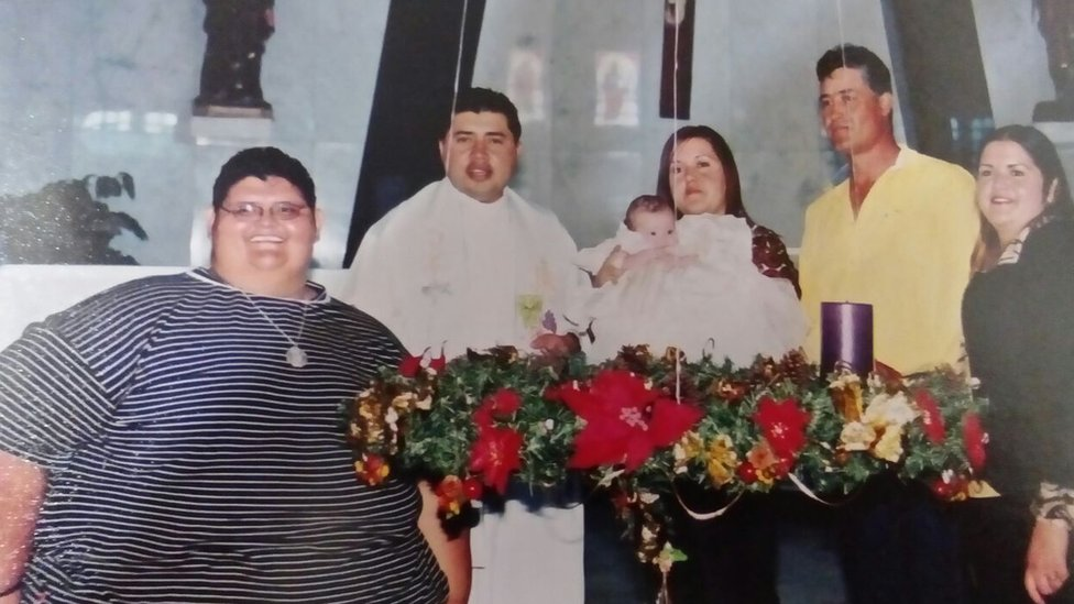Juan Pedro con su familia.