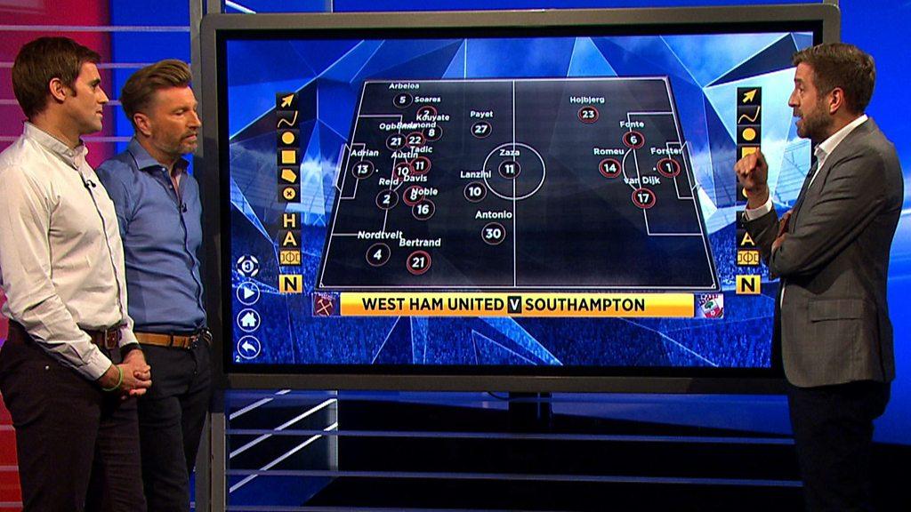 MOTD3: Southampton 'settled' but West Ham 'undisciplined'