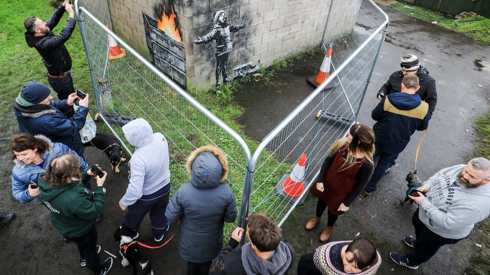 Christmas pilgrimage to view Port Talbot's Banksy