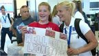 VIDEO: England fans welcome heroes home