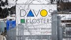 Barbed wire and security fences for the World Economic Forum in Davos
