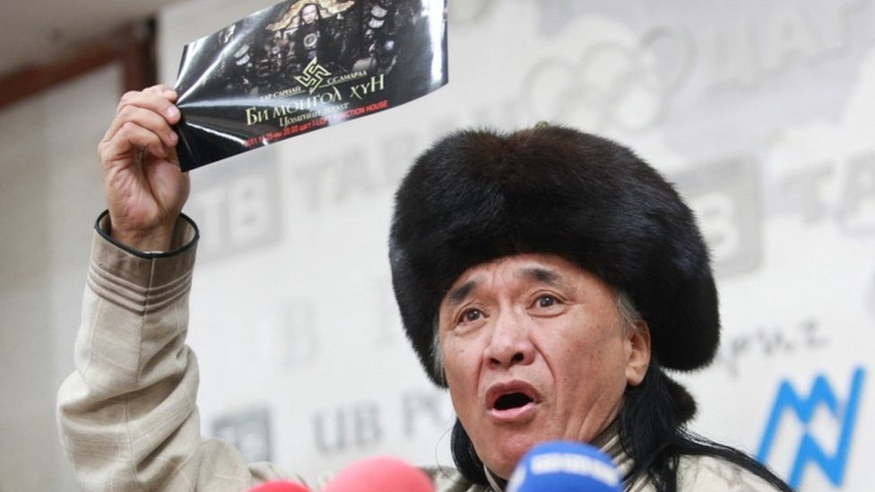 Russian diplomat 'beat Mongolian rapper over Swastika outfit'