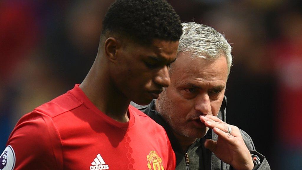 Lack of Man Utd starts shouldn't affect Rashford's England chances - Mourinho