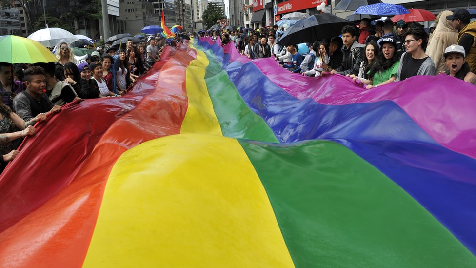 Marcha del orgullo gay en Bogotá, en 2016.