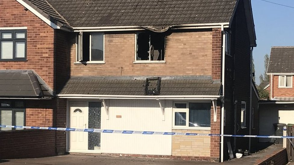 Wolverhampton house fire: Man and woman die in blaze