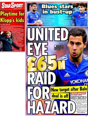 Today's newspaper gossip: Real Madrid chase Kane; Man United will try Hazard