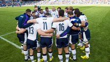 Scotland team after full-time at Murrayfield