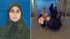 Zahera Tariq and her five children at London City Airport