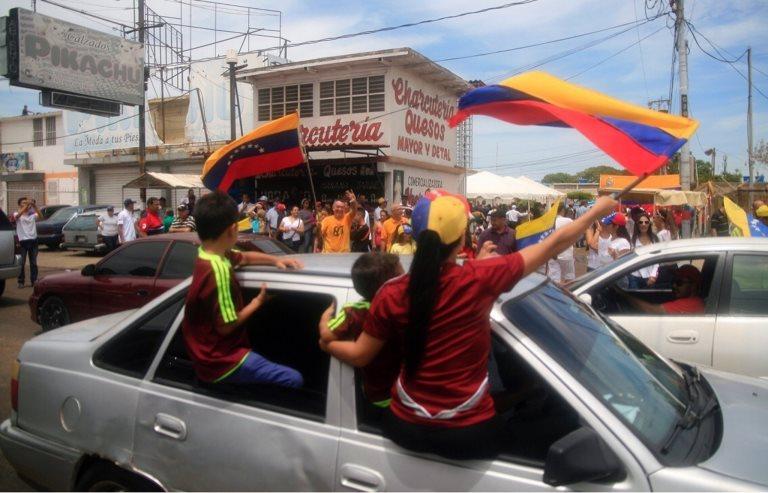 La oposición también se movilizó en Maracaibo