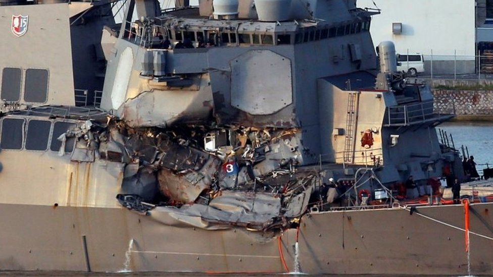 USS Fitzgerald: US Navy to discipline dozen sailors